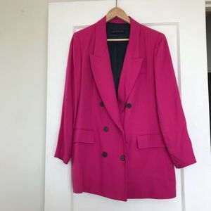 Double breasted pink blazer, XL